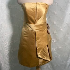 Light in the Box GOLD strapless formal dress sz 12